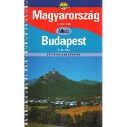 Magyarország autóatlasza (1:360 000) - Budapest (1:25 000)