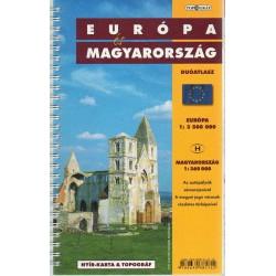Európa és Magyarország duóatlasz - Európa (1:3 500 000) - Magyarország (1:360 000)
