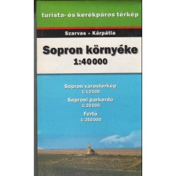 Sopron környéke (1:40 000) turista- és kerékpáros térkép
