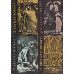 Művészettörténeti könyvek 2. (9 db)