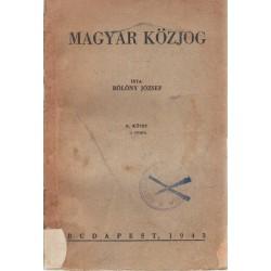 Magyar közjog II. kötet (1943)
