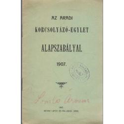 az Aradi Kocsolyázó-Egylet alapszabályai (1907)