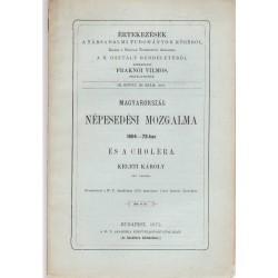 Magyarország népesedési mozgalma 1864-73-ban és a cholera (1875)