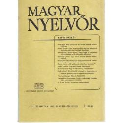 Magyar Nyelvőr 1987. (1, 2, 4. szám)