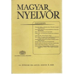 Magyar Nyelvőr 1988. (hiányos)