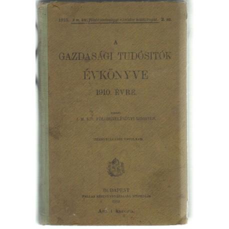 A gazdasági tudósitók évkönyve 1910. évre