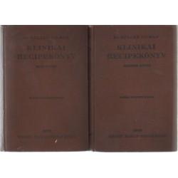 Klinikai recipekönyv I-II. (1929)