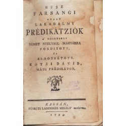 Húsz farsangi avagy lakodalmi prédikátziók