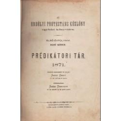Prédikátori tár 1871