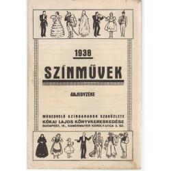 1938 Színművek Árjegyzéke