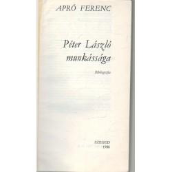 Péter László munkássága