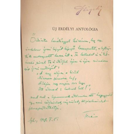 Új Erdélyi antológia (Szemlér Ferenc által dedikálva)