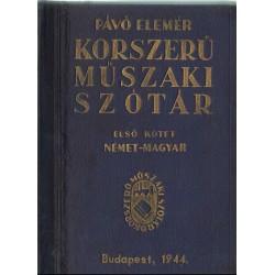 Korszerű műszaki szótár I. kötet