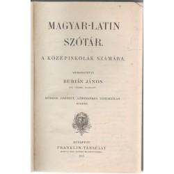Magyar-latin szótár (1907)