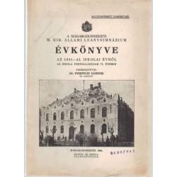A máramarosszigeti református gimmnázium évkönyve 1941-42