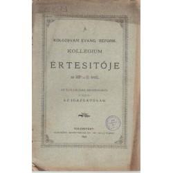 Kolozsvári Evang. Reform. Kollégium értesítője 1895-1896