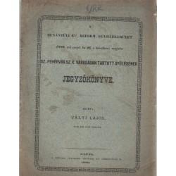 Dunántúli Ev. Reform. Egyházkerület Székesfehérváron tartott gyűlésének jegyzőkönyve 1880