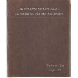 Lisztátszámolási könyvecske