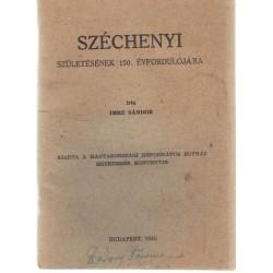 Széchenyi születésének 150. évfordulójára