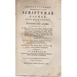 Institvtiones Hermenevticae Scriptvrae Sacrae Novi Testamenti