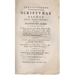 Institvtiones Hermenevticae Scriptvrae Sacrae Novi Testamenti III.