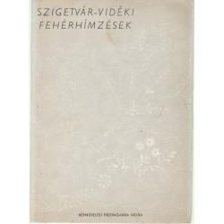 Szigetvár-vidéki fehérhímzések