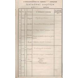 A hódmezővásárhelyi izraelita népiskola IV-V. oszt. haladási naplója 1913-14