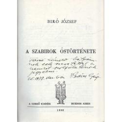 A szabirok őstörténete (emigráns)