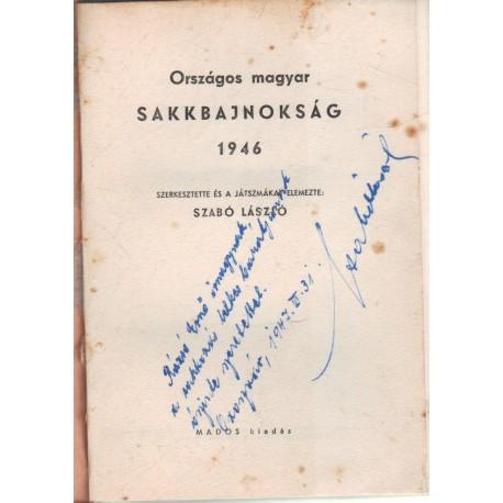 Országos magyar sakkbajnokság 1946 (dedikált)