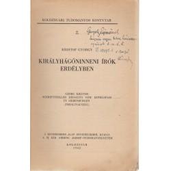 Királyhágóninneni írók Erdélyben (dedikált)