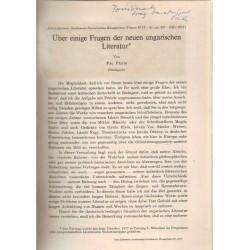 Über einige Fragen der neuen ungarischen Literatur (dedikált)