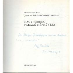 Nagy Ferenc faragó népművész (dedikált)