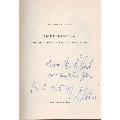 Inkunábuly (dedikált)