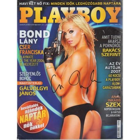 Playboy 2007. január (dedikált)