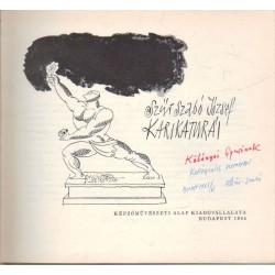 Szűr Szabó József karikatúrái (dedikált)