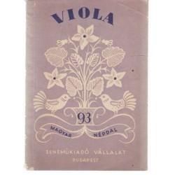 Viola -93 magyar népdal (lila)