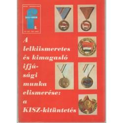 A lelkiismeretes és kimagasló ifjúsági munka elismerése: a KISZ-kitüntetés