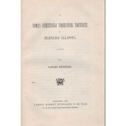 A román nemzetiségi törekvések története és jelenlegi állapota I.