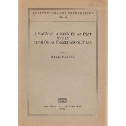 A magyar, a finn és az észt nyelv tipológiai összehasonlítása
