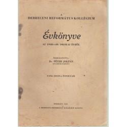 A Debreceni Református Kollégium évkönyve (1848-49)