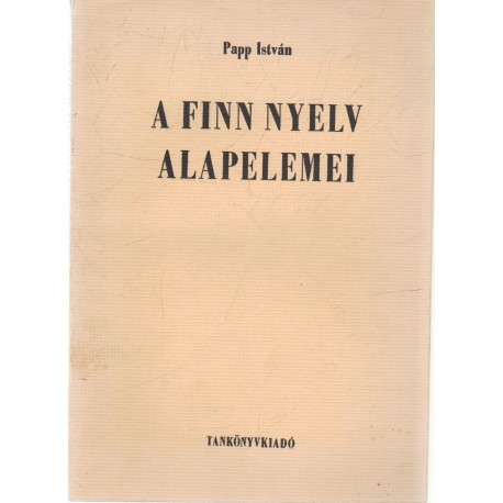 A finn nyelv alapelemei
