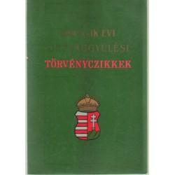 1847-48-ik országgyűlési törvényczikkek