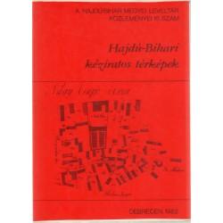 Hajdú-Bihari kéziratos térképek