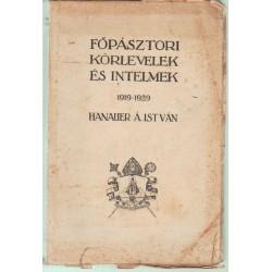 Főpásztori körlevelek és intelmek 1919-1929