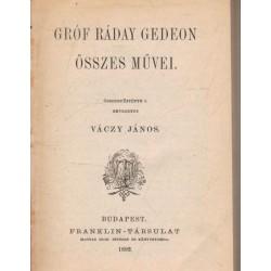 Gróf Ráday Gedeon összes művei