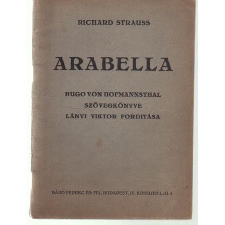 Arabella (vígopera 3 felvonásban, szövegkönyv)