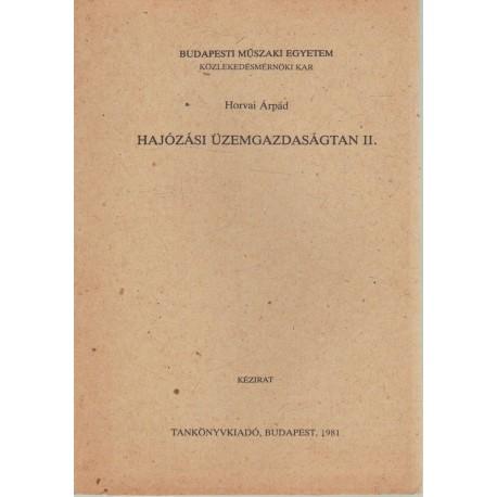 Hajózási üzemgazdságtan II.