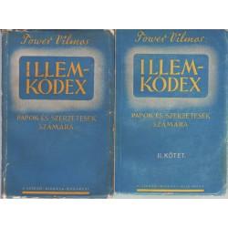 Illemkódex papok és szerzetesek számára 1-2.kötet