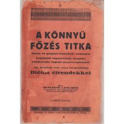 A könnyű főzés titka (putnoki szakácskönyv) 1934