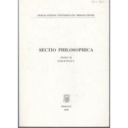 Sectio philosophica - Tomus II., Fasciculus 2. (kétnyelvű)